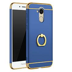 Coque Bumper Luxe Metal et Plastique Etui Housse avec Support Bague Anneau A01 pour Huawei Honor 6A Bleu