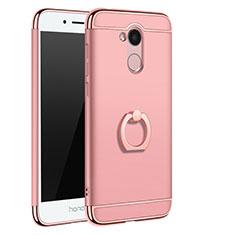 Coque Bumper Luxe Metal et Plastique Etui Housse avec Support Bague Anneau A01 pour Huawei Honor 6A Or Rose
