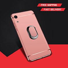 Coque Bumper Luxe Metal et Plastique Etui Housse avec Support Bague Anneau A01 pour Huawei Honor 8A Or Rose