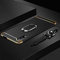 Coque Bumper Luxe Metal et Plastique Etui Housse avec Support Bague Anneau A01 pour Huawei Honor 9X Noir