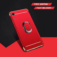 Coque Bumper Luxe Metal et Plastique Etui Housse avec Support Bague Anneau A01 pour Huawei Honor Play 8A Rouge