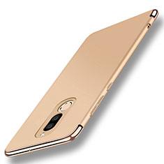 Coque Bumper Luxe Metal et Plastique Etui Housse avec Support Bague Anneau A01 pour Huawei Maimang 6 Or