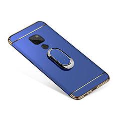 Coque Bumper Luxe Metal et Plastique Etui Housse avec Support Bague Anneau A01 pour Huawei Mate 20 Bleu