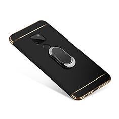 Coque Bumper Luxe Metal et Plastique Etui Housse avec Support Bague Anneau A01 pour Huawei Mate 20 Noir