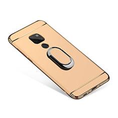 Coque Bumper Luxe Metal et Plastique Etui Housse avec Support Bague Anneau A01 pour Huawei Mate 20 Or