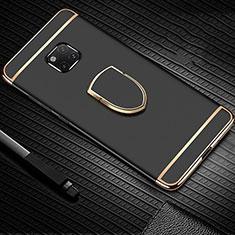 Coque Bumper Luxe Metal et Plastique Etui Housse avec Support Bague Anneau A01 pour Huawei Mate 20 Pro Noir