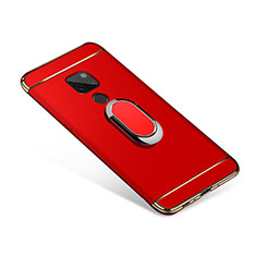 Coque Bumper Luxe Metal et Plastique Etui Housse avec Support Bague Anneau A01 pour Huawei Mate 20 Rouge