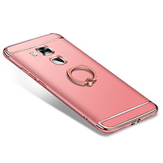 Coque Bumper Luxe Metal et Plastique Etui Housse avec Support Bague Anneau A01 pour Huawei Nova Plus Or Rose