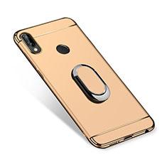 Coque Bumper Luxe Metal et Plastique Etui Housse avec Support Bague Anneau A01 pour Huawei P Smart+ Plus Or