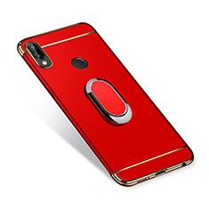 Coque Bumper Luxe Metal et Plastique Etui Housse avec Support Bague Anneau A01 pour Huawei P Smart+ Plus Rouge