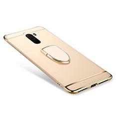 Coque Bumper Luxe Metal et Plastique Etui Housse avec Support Bague Anneau A01 pour Xiaomi Pocophone F1 Or