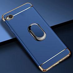 Coque Bumper Luxe Metal et Plastique Etui Housse avec Support Bague Anneau A01 pour Xiaomi Redmi Go Bleu