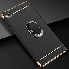 Coque Bumper Luxe Metal et Plastique Etui Housse avec Support Bague Anneau A01 pour Xiaomi Redmi Go Noir