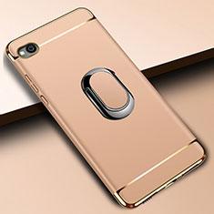 Coque Bumper Luxe Metal et Plastique Etui Housse avec Support Bague Anneau A01 pour Xiaomi Redmi Go Or