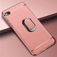 Coque Bumper Luxe Metal et Plastique Etui Housse avec Support Bague Anneau A01 pour Xiaomi Redmi Go Or Rose