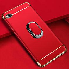 Coque Bumper Luxe Metal et Plastique Etui Housse avec Support Bague Anneau A01 pour Xiaomi Redmi Go Rouge