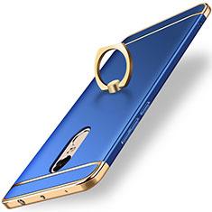Coque Bumper Luxe Metal et Plastique Etui Housse avec Support Bague Anneau A01 pour Xiaomi Redmi Note 4X High Edition Bleu