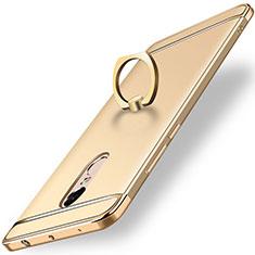 Coque Bumper Luxe Metal et Plastique Etui Housse avec Support Bague Anneau A01 pour Xiaomi Redmi Note 4X High Edition Or