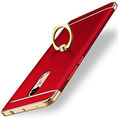 Coque Bumper Luxe Metal et Plastique Etui Housse avec Support Bague Anneau A01 pour Xiaomi Redmi Note 4X High Edition Rouge