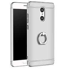 Coque Bumper Luxe Metal et Plastique Etui Housse avec Support Bague Anneau A01 pour Xiaomi Redmi Pro Argent