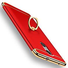 Coque Bumper Luxe Metal et Plastique Etui Housse avec Support Bague Anneau A01 pour Xiaomi Redmi Pro Rouge