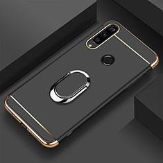 Coque Bumper Luxe Metal et Plastique Etui Housse avec Support Bague Anneau T01 pour Huawei Honor 20i Noir