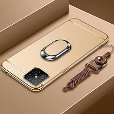 Coque Bumper Luxe Metal et Plastique Etui Housse avec Support Bague Anneau T01 pour Huawei Nova 8 SE 5G Or
