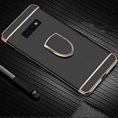 Coque Bumper Luxe Metal et Plastique Etui Housse avec Support Bague Anneau T01 pour Samsung Galaxy S10e Noir
