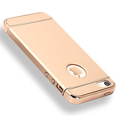 Coque Bumper Luxe Metal et Plastique Etui Housse M01 pour Apple iPhone 5 Or