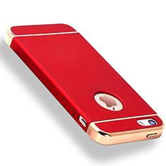 Coque Bumper Luxe Metal et Plastique Etui Housse M01 pour Apple iPhone SE Rouge