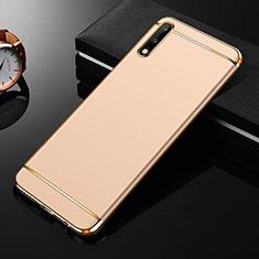 Coque Bumper Luxe Metal et Plastique Etui Housse M01 pour Huawei Enjoy 10 Or