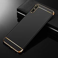 Coque Bumper Luxe Metal et Plastique Etui Housse M01 pour Huawei Enjoy 10e Noir