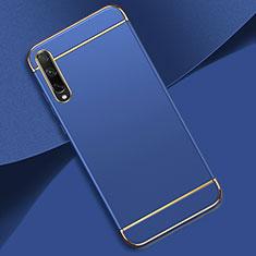 Coque Bumper Luxe Metal et Plastique Etui Housse M01 pour Huawei Enjoy 10S Bleu