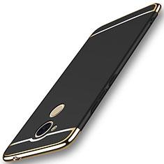 Coque Bumper Luxe Metal et Plastique Etui Housse M01 pour Huawei Enjoy 6S Noir
