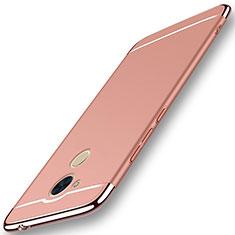 Coque Bumper Luxe Metal et Plastique Etui Housse M01 pour Huawei Enjoy 6S Or Rose