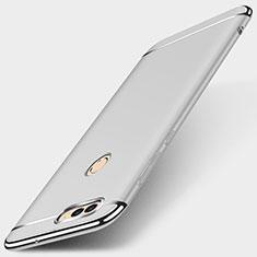 Coque Bumper Luxe Metal et Plastique Etui Housse M01 pour Huawei Enjoy 7S Argent