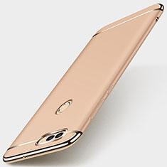 Coque Bumper Luxe Metal et Plastique Etui Housse M01 pour Huawei Enjoy 7S Or