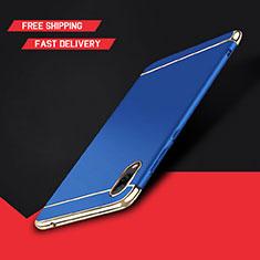 Coque Bumper Luxe Metal et Plastique Etui Housse M01 pour Huawei Enjoy 9 Bleu