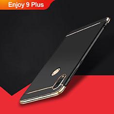 Coque Bumper Luxe Metal et Plastique Etui Housse M01 pour Huawei Enjoy 9 Plus Noir