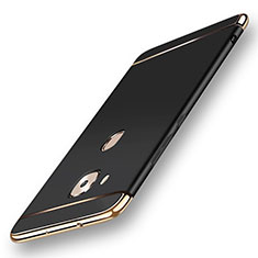Coque Bumper Luxe Metal et Plastique Etui Housse M01 pour Huawei G8 Noir