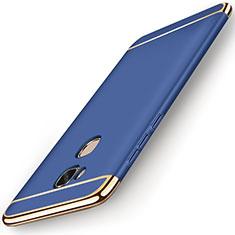 Coque Bumper Luxe Metal et Plastique Etui Housse M01 pour Huawei GR5 Bleu