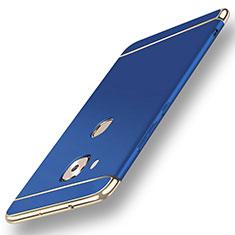 Coque Bumper Luxe Metal et Plastique Etui Housse M01 pour Huawei GX8 Bleu