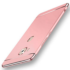 Coque Bumper Luxe Metal et Plastique Etui Housse M01 pour Huawei GX8 Or Rose