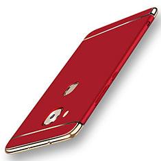 Coque Bumper Luxe Metal et Plastique Etui Housse M01 pour Huawei GX8 Rouge
