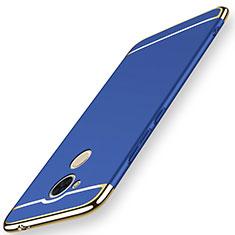 Coque Bumper Luxe Metal et Plastique Etui Housse M01 pour Huawei Honor 6C Pro Bleu
