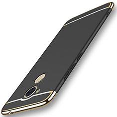 Coque Bumper Luxe Metal et Plastique Etui Housse M01 pour Huawei Honor 6C Pro Noir
