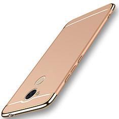 Coque Bumper Luxe Metal et Plastique Etui Housse M01 pour Huawei Honor 6C Pro Or