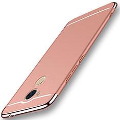 Coque Bumper Luxe Metal et Plastique Etui Housse M01 pour Huawei Honor 6C Pro Or Rose