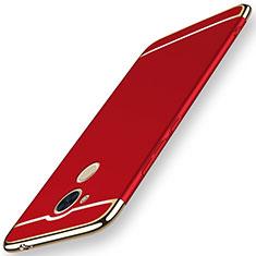 Coque Bumper Luxe Metal et Plastique Etui Housse M01 pour Huawei Honor 6C Pro Rouge