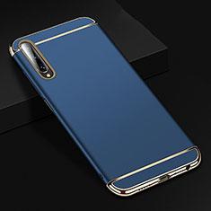 Coque Bumper Luxe Metal et Plastique Etui Housse M01 pour Huawei Honor 9X Pro Bleu